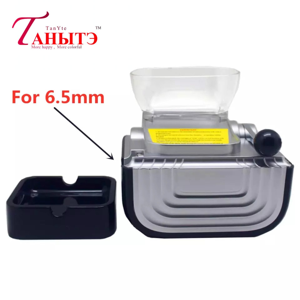 6.5mm Slim Tube Automatic Electric High Speed 110-220v Silver Cigarette Rolling Machine Injector Maker Roller Diy Smoke Tool