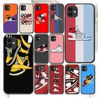 trend brand shoe sneakers phone case for iphone 4 4s 5 5s se 5c 6 6s 7 8 plus x xs xr 11 12 mini pro max 2020 black etui