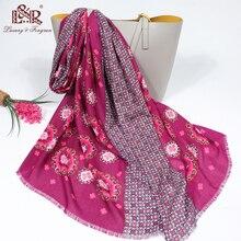 2020 Summer Women Cotton Print Scarf bohemia flower Beach Hijab Shawls and Wraps Female Foulard Flor