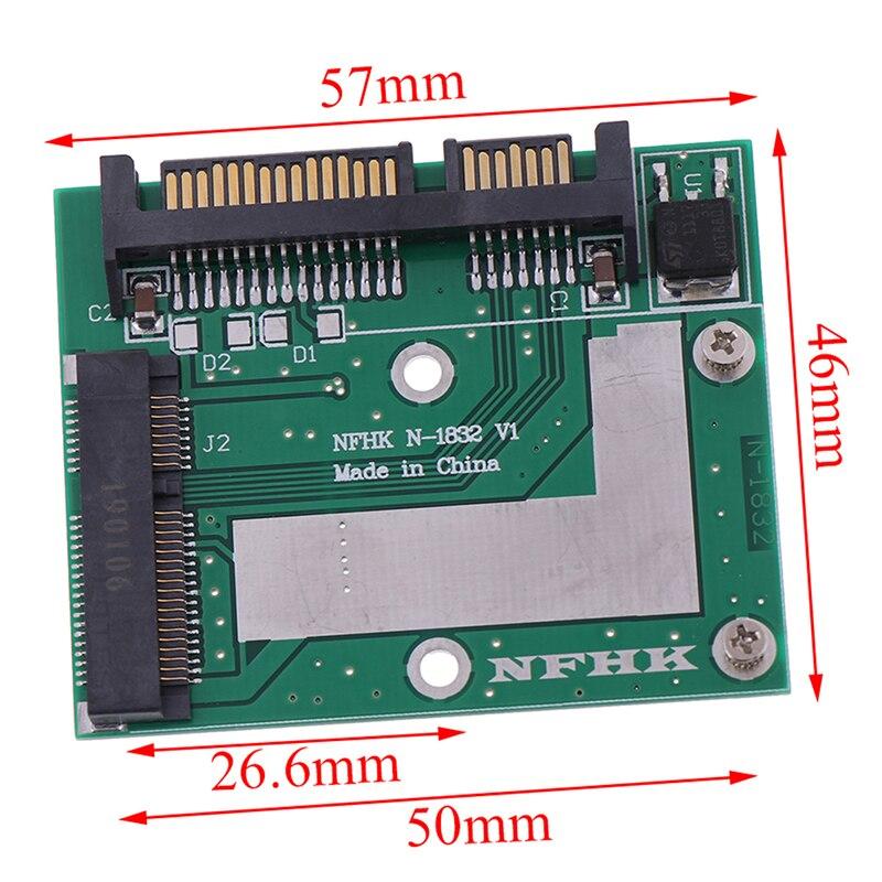 MSATA SSD To 2.5'' SATA 6.0gps Adapter Converter Card Module Board Mini Pcie Ssd Wholesale 2020 kingshare ks amast2 msata to sata 3 converter adapter card