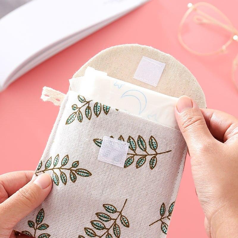 Портативные гигиенические сумки для хранения полотенец косметические прокладки маленькие Чехлы Портмоне женские необходимые милые сумки ...