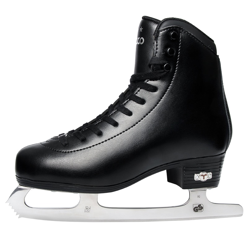 3 stars Genuine Leather Ice Figure Skates Shoes Professional Thermal Warm Thicken Ice Blade Skating Shoe For Kids Adult Teenager