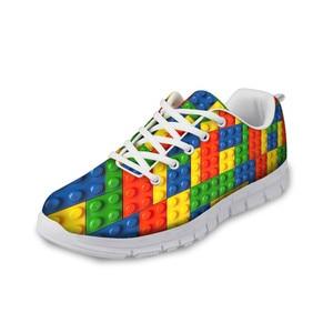 HaoYun Women Casual Sneaker Shoes Building Blocks Design Girls Flat Walking Shoes Breathable Ladies Sports Footwear Zapatillas