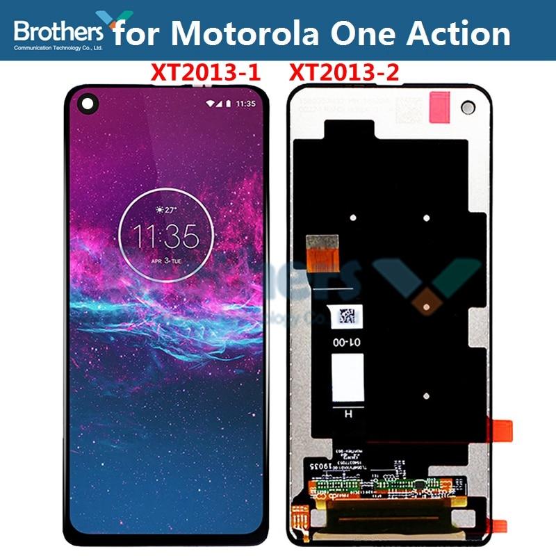 ЖК-дисплей с сенсорным экраном дигитайзером для Motorola One Action Vision для XT2013-1 XT2013-2, экран в сборе XT1970-1 6,3 дюйма, оригинал