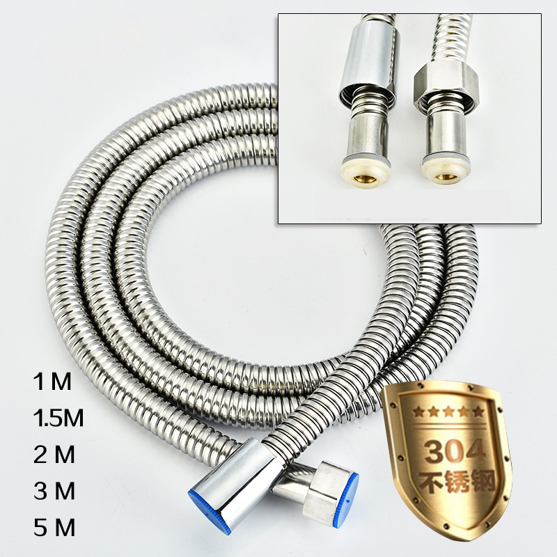 5m 304 Stainless Steel Shower Hose High Quality faucet hose flexible shower Hose thick Silicone Bathroom 3 meter shower hose