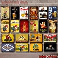 kelly66 belgian beer hertog jan la chouffe orval havana club leffe tin metal sign home decor painting 2030 cm size dy181