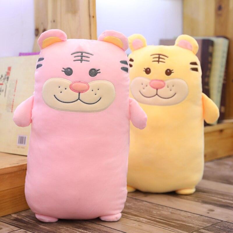 45-70cm Kawaii Cartoon Tiger Soft Pillow Baby Lovely Tiger Animal Stuffed Toys Plush High Quality Sofa Back Cushion Kids Gifts