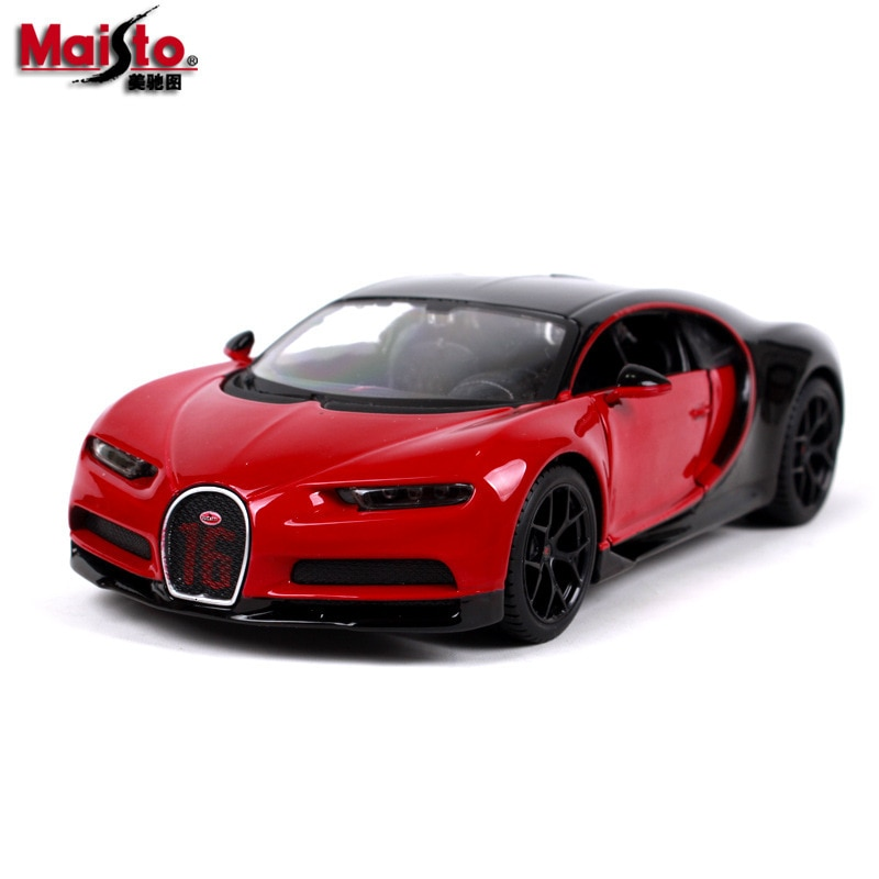 Maisto 124 escala bugatti chiro kailong roadster simulação diecast liga modelo de carro decoração crianças brinquedos coleção hotweels