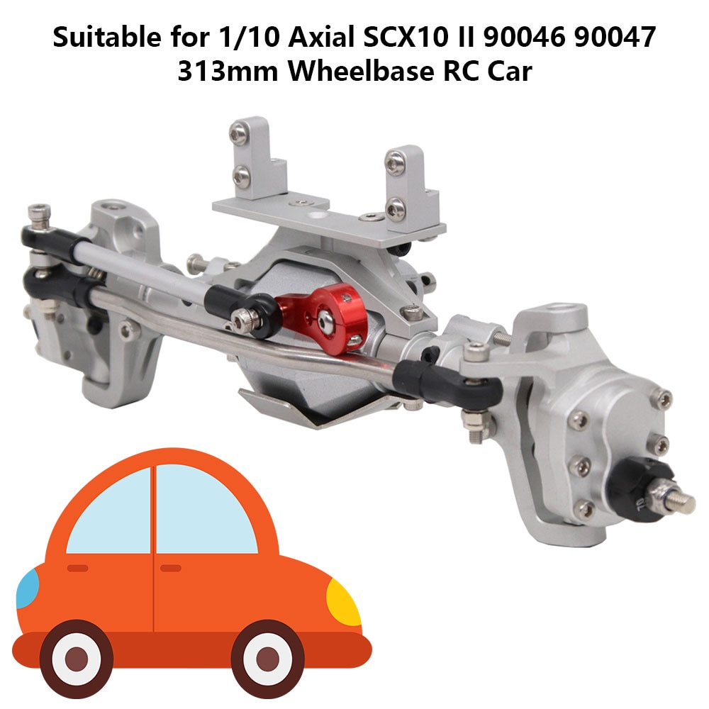 RC Car Front Rear Portal Axles for 1:10 Crawler Axial SCX10 II 90046 90047 Remote Control Vehicle Spare Parts enlarge