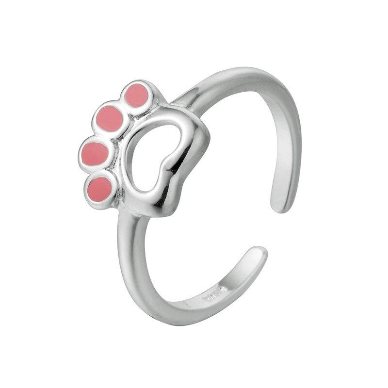 Кольцо для женщин милый розовый кот когти маленький палец хвост кольцо