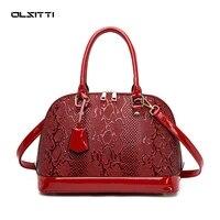 light luxury ladies handbags pu leather snake skin shoulder bags for women 2021 designer crossbody fashion handbags travel tote