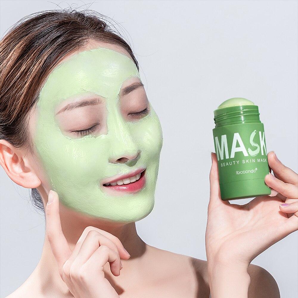 الجملة 10 قطعة قناع الوجه نظيفة الجمال الجلد شاي أخضر قناع الوجه نظيفة عصا ينظف المسام الترابية ترطيب ترطيب تبييض