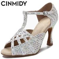 cinmidy sexy rhinestone pearl dance heels tango salsa rumba samba latin ballroom dance shoes soft sole women sandals