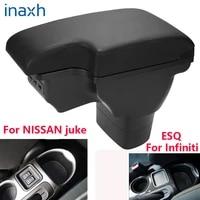 for nissan juke armrest box for infiniti esq car armrest 2010 2019 accessories interior storage box retrofit parts usb led