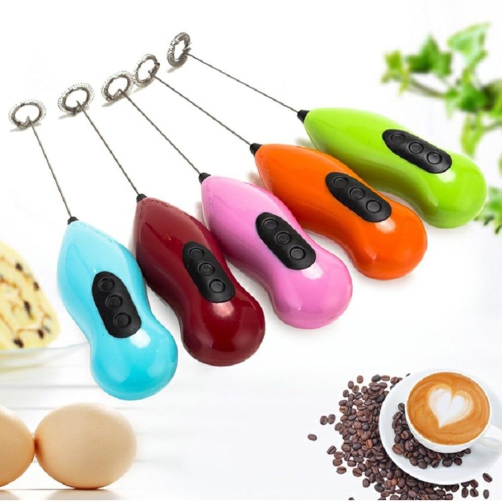 Batidor de huevos semiautomático, mezclador de giro automático para crema de huevo, café, leche, batidor, batidor Manual, licuadora, utensilios de cocina