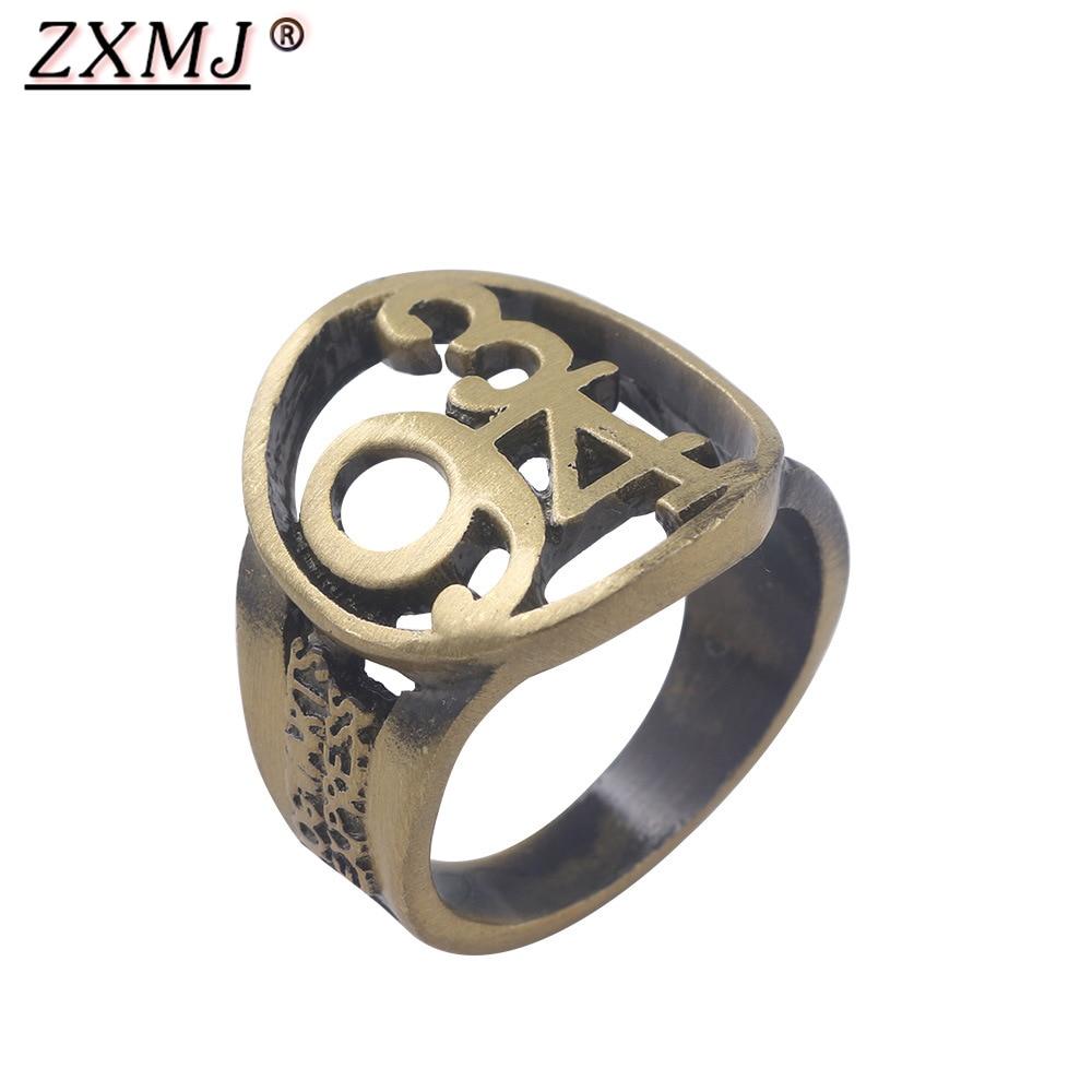 ZXMJ Harried 9 3/4 yüzük ölüm yadigarları içi boş halkalar Potters Ravenclaw Cosplay Vintage bronz takı Ringen taraftarları hediyeler