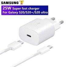 Samsung Original rapide Chatger mur chargeur de voyage EP-TA800 pour Galaxy S20 S20 + S20 Ultra S20Plus Note 20 Ultra 25W chargeur rapide