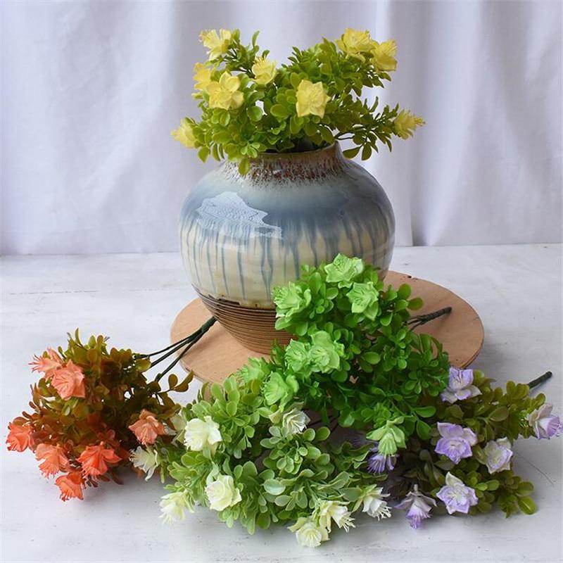 "10 pces falso rododendron (5 hastes/bando) 11.81 ""comprimento simulação azalea plástico para casamento casa flores artificiais decorativas"