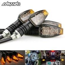 Intermitentes LED universales para motocicleta, luces intermitentes largas y cortas, accesorios de Color ámbar, 4 unids/set por juego