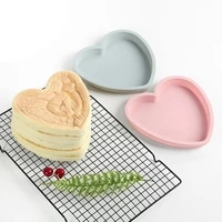 6 inch heart cake silicone mold diy round love shape bakeware handmade baking tools reuseable kitchen birthday party accessories