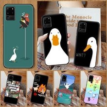 Untitled Goose Duck Game Phone case For Samsung Galaxy Note 4 8 9 10 20 S8 S9 S10 S10E S20 Plus UITR
