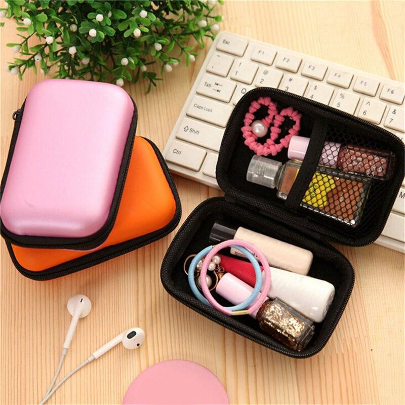 Mini bolsa portátil para auriculares, monedero, caja de almacenamiento para auriculares con Cable USB, bolsa de transporte, monedero, accesorios para auriculares TSLM2
