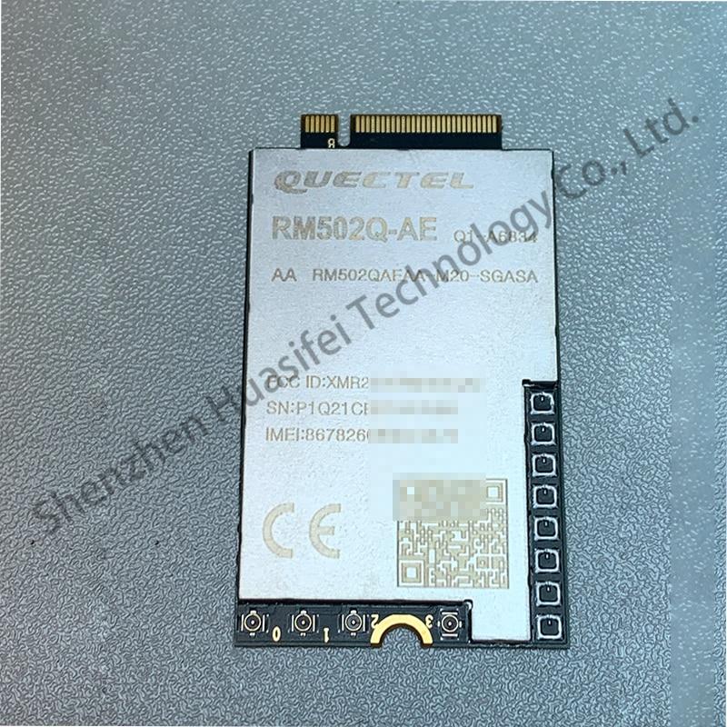 New Quectel RM502Q-AE 5G NR Module M.2 Module Standalone (SA) Non-Standalone (NSA) Modes MIMO USB 3.1 PCIe 3.0 GNSS Receiver enlarge