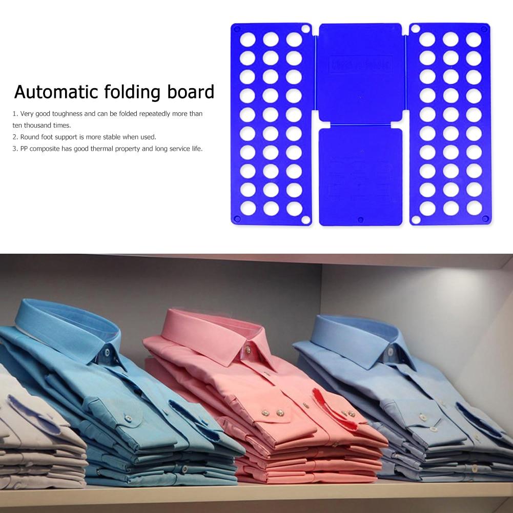 Plastic Garment Folding Board Adult Kids Adjustable Shirt Clothes Holder Wardrobe Storage Organizing for Home Quick Storage Tool