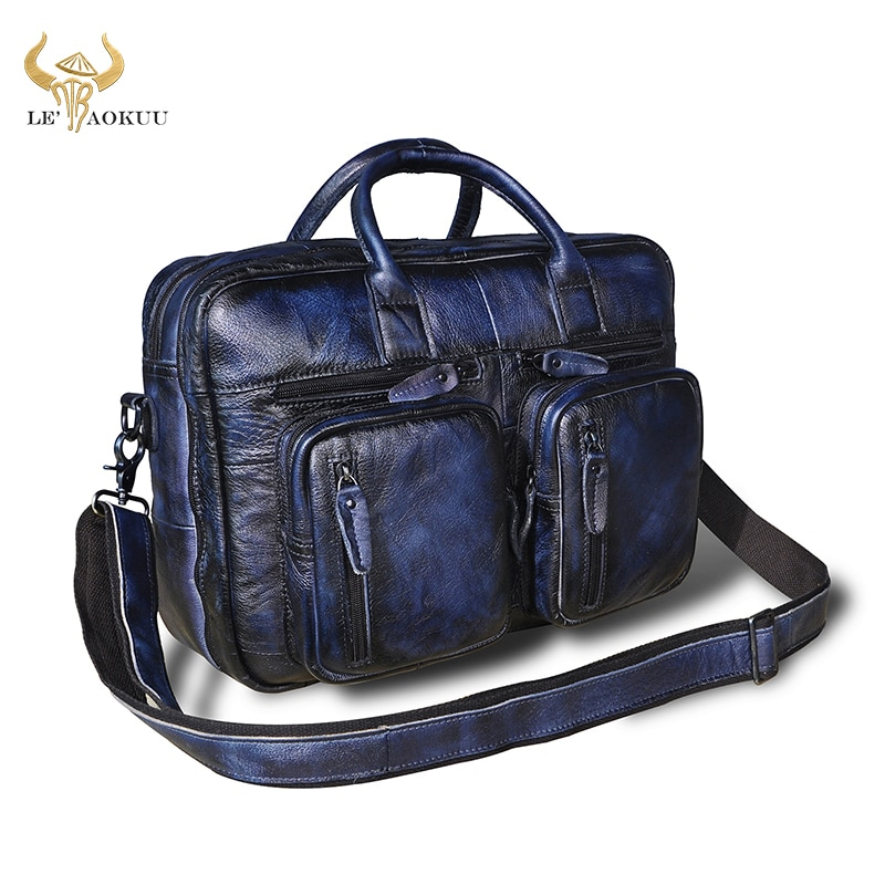 كريزي هورس-حقيبة جلدية للرجال ، محفظة ، حقيبة كمبيوتر محمول ، 15.6 بوصة ، نمط Maletas Maletin ، k1013