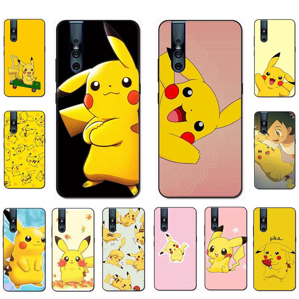 EWAU Pikachu caja del teléfono de silicona para VIVO Y11 Y53 Y55s Y81s V5 V7 V9 V11 V15 pro Y17 Y69 Y71 Y91 Y93