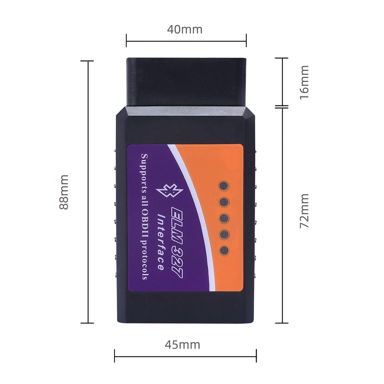 Car ELM327 V2.1 OBD2 Bluetooth Scanner Auto Diagnostic Scan Tool Vehicle OBDII Fault Code Reader