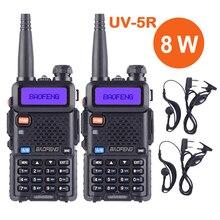 2 pièces Baofeng UV 5R Ture 8 W haut puissant talkie-walkie 8 Watts CB jambon Radio Portable Radio bidirectionnelle 10km longue portée Pofung UV-5R