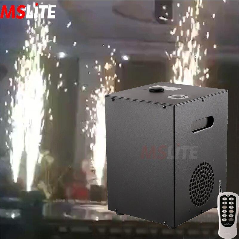 Máquina de fuegos artificiales de chispa fría con control remoto DMX en fuegos artificiales de efecto de fundición interior para boda, fiesta de Navidad, espectáculo de escenario