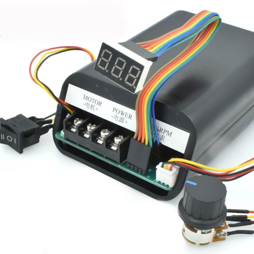 وحدة تحكم في سرعة العرض الرقمي PWM ، محرك DC ، بحد أقصى 60A CW CCW 0 ~ 100% ، وحدة محرك قابلة للتعديل