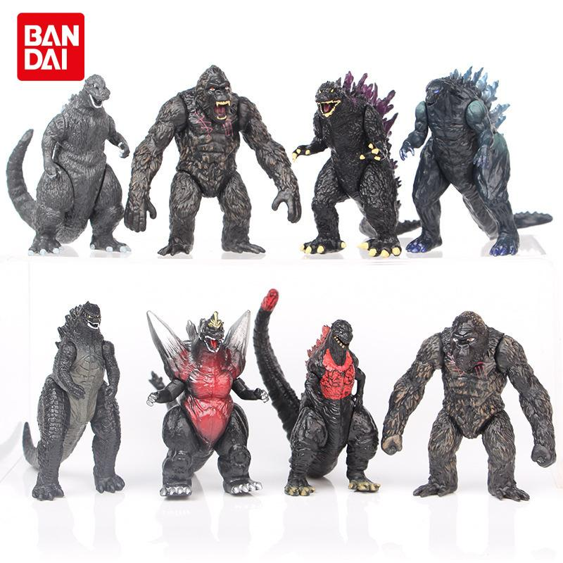 8 Godzilla King Kong Red Lotus Planet Primitive Monster Figure Doll Ornaments 8.5Cm Boy Toy Gift Collection Model