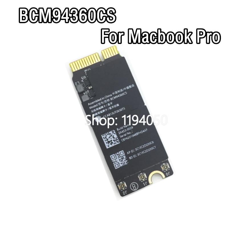 Broadcom-بطاقة مطار واي فاي ، BCM94360CS BCM94360CSAX, لأجهزة Macbook Pro Retina A1425 A1502 A1398 ، بلوتوث 4.0 2.4G 5G