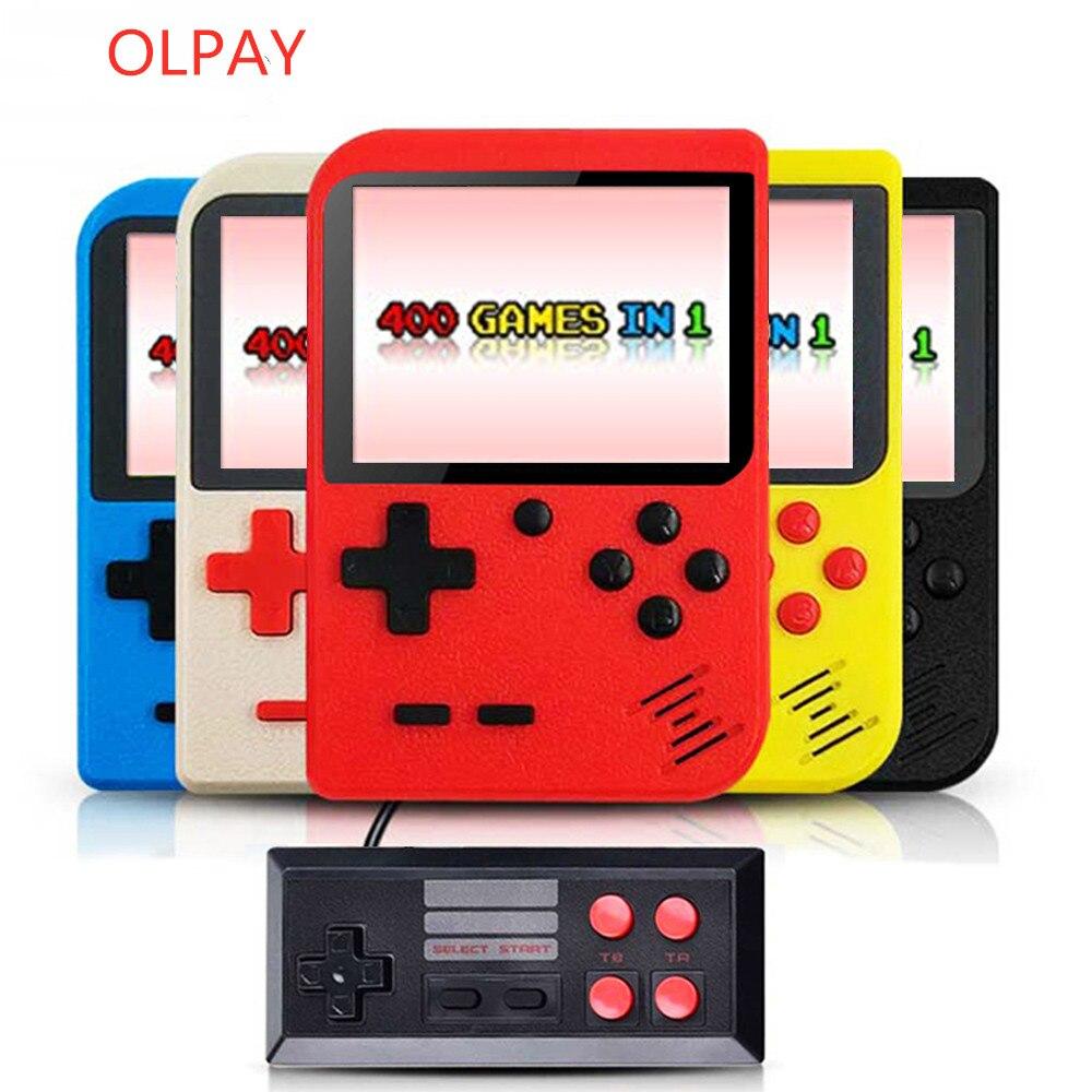 Портативная портативная игровая консоль, ретро игровая консоль, Встроенный 400 игр, поддержка 2 8-битных 8-битных 3,0 дюймов для детей ностальги