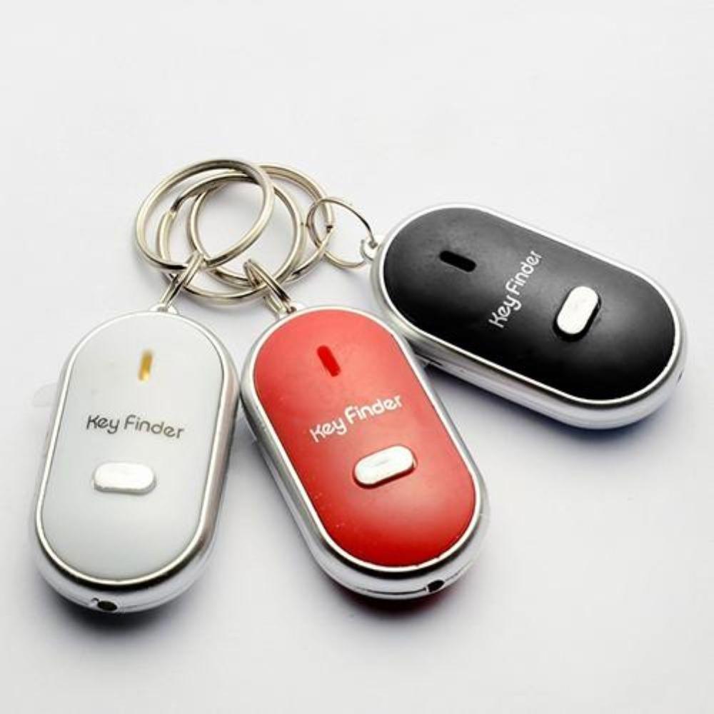 Silbatos Luz de sonido Anti-Pérdida buscador de llaves con alarma parpadeante pitido remoto Lost Keyfinder Keyring Keychain dispositivo de bloqueo