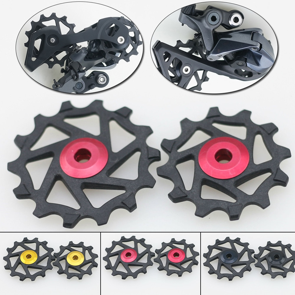 1 Pair 12T 14T bike Ceramic Rear Derailleur Pulley Jockey For  XX1 X01 XTR Bike Upgrade MTB Mountain Road Bicycles Replace Parts