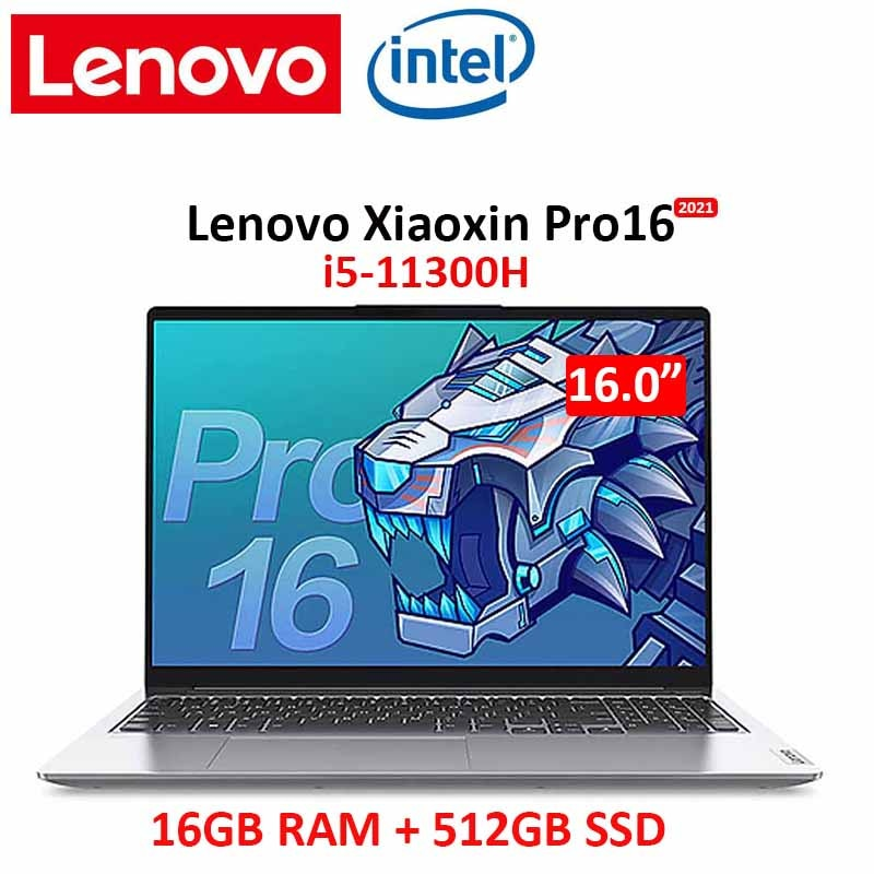 Promo lenovo laptop pro16 xiaoxin i5-11300H 16GB RAM 512GB SSD 16 inch FHD IPS screen Notebook computer Ultrabook