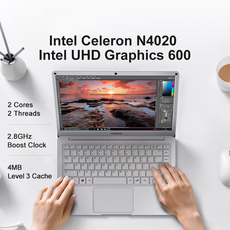 MAIBENBEN Maibook S340 Laptop [ Intel Celeron N4020/ 13.3 inch 50% NTSC IPS/4G 64GB/1200P HD Camera/One Year Warranty]