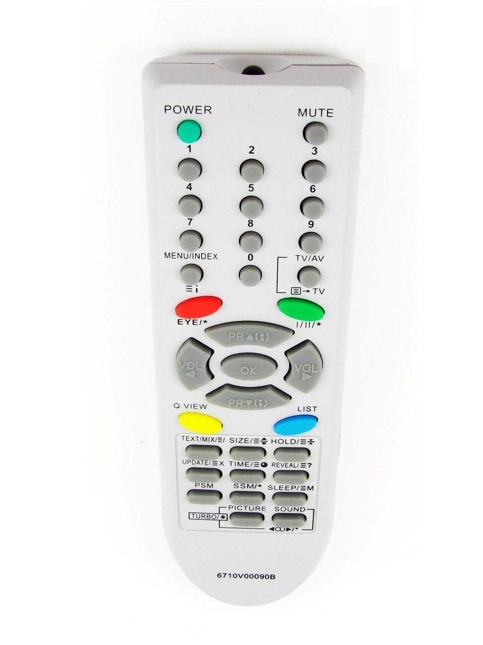 Télécommande pour LG 6710V00090B TV RT-21FA72X RT-21FB20RQ RT-20FB20RQ CF-21Q45RQ CT-21Q42KEX CF-21S13KEX RT-20LA30 Rolsen C21R92 C21R95