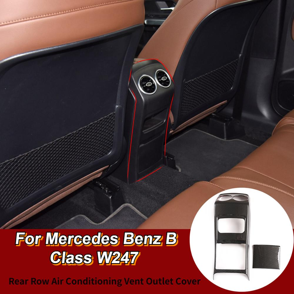 Accesorios de Interior de coche para Mercedes Benz B GLB clase W247 X247 2020ABS cromo parte trasera cubierta de salida de ventilación de aire acondicionado embellecedor