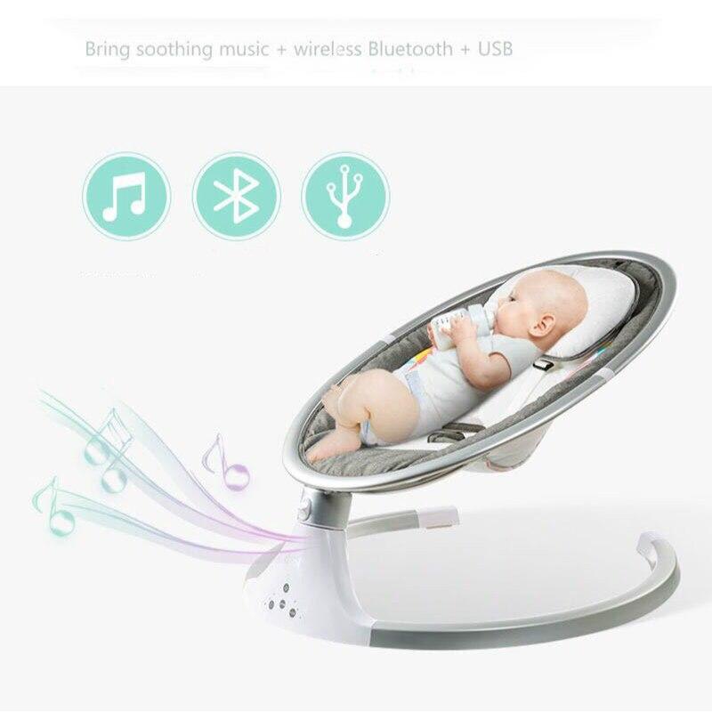 Cuna eléctrica para bebé, cama abatible, mecedora inteligente para recién nacido, agitador infantil con música