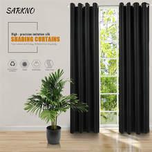 Moderno con ojales, anillo superior cortinas ventana tratamiento cortinas para dormitorio/oscurecimiento de la habitación