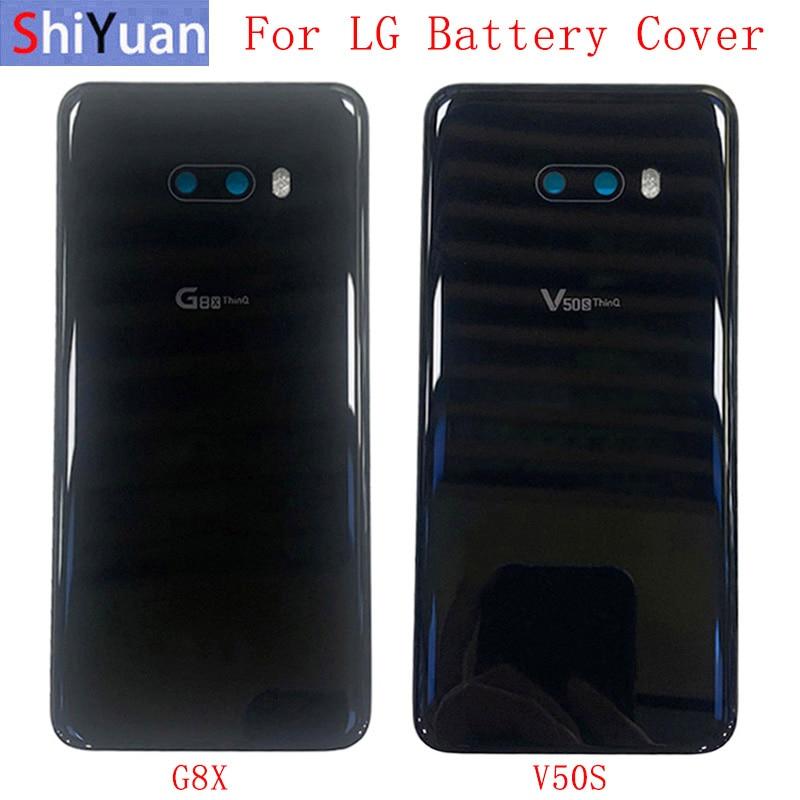 nylon flashlight case w cover Back Battery Cover Rear Door Panel Housing Case For LG G8X V50S Battery Cover with Camera Lens Flashlight Replacement Part