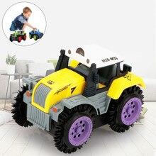 Bébé jouets enfants jouets enfants camion à benne basculante Simulation 4 roues motrices Jeep électrique cascadeur jouet voiture drôle jouets cadeaux de noël