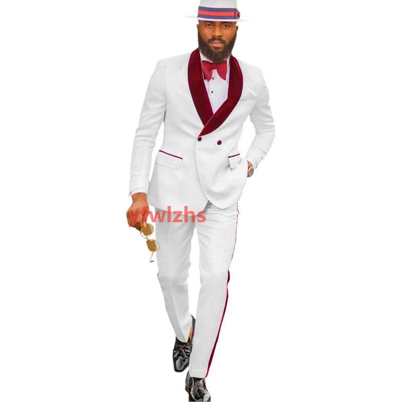 New Arrival Embossing Groomsmen Shawl Lapel Groom Tuxedos Men Suits Wedding/Prom Best Blazer ( Jacket+Pants+Tie) D09