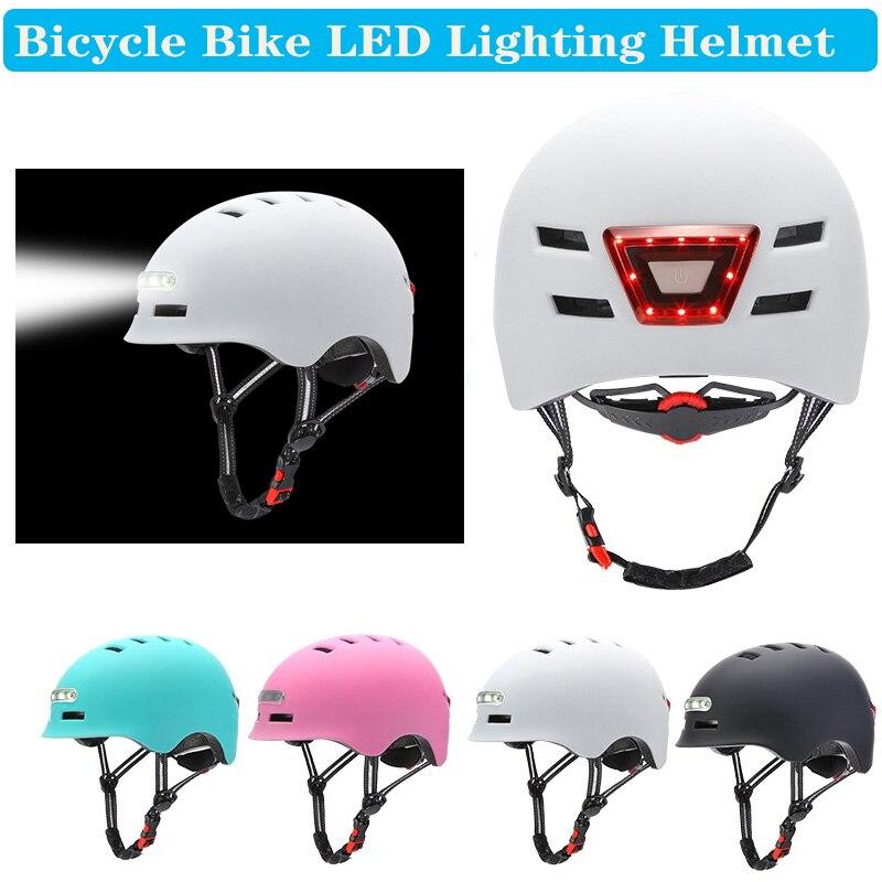 Casco de Ciclismo de una sola pieza con iluminación LED, reflectante EPS...