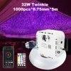 Twinkle – fibre optique 32W avec télécommande Bluetooth 1000 pièces Kit de plafond avec effet ciel étoilé câble en Fiber optique de 5m et 0.75mm